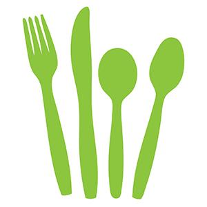 cutlery set green clipart 300
